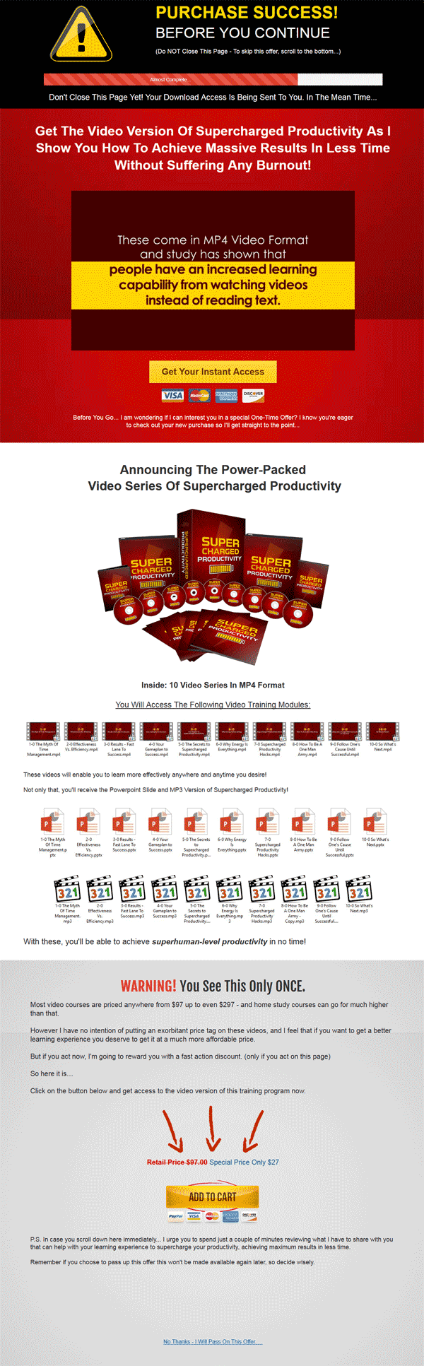 Supercharged Productivity Ebook and Videos with Master Resale Rights
