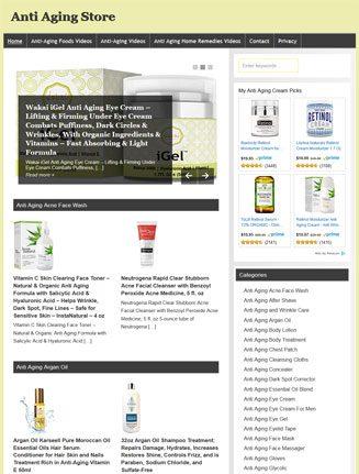 Anti-Aging PLR Amazon Store Website