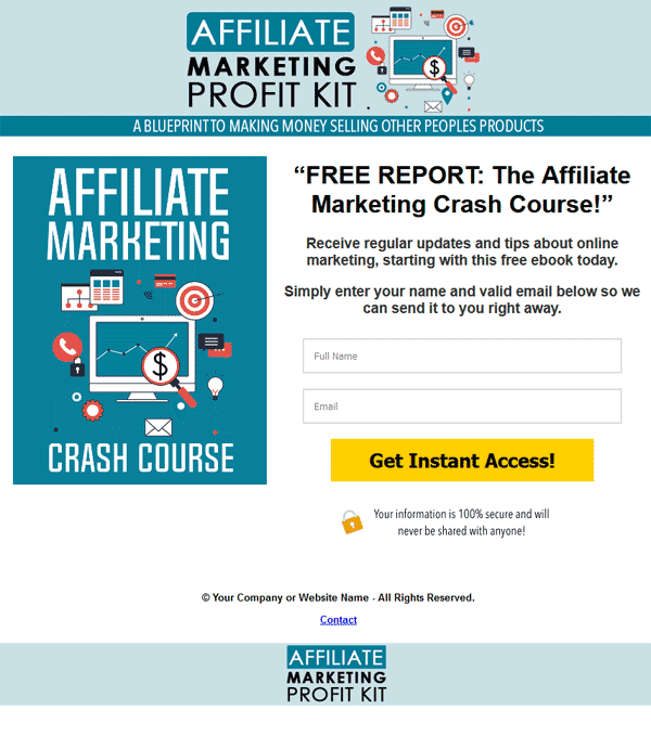 Affiliate Marketing Profit Kit Ebook and Videos MRR