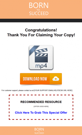 Born To Succeed Ebook and Videos MRR