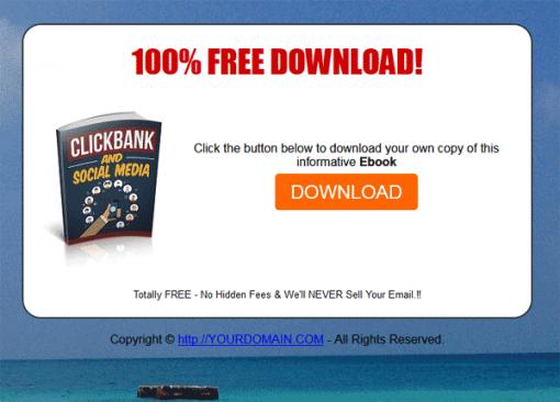 Clickbank and Social Media Ebook MRR