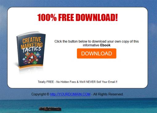 Creative Marketing Tactics Ebook MRR