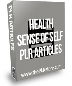 Health Sense of Self PLR Articles