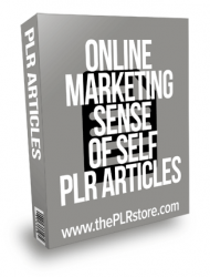 Online Marketing Sense of Self PLR Articles