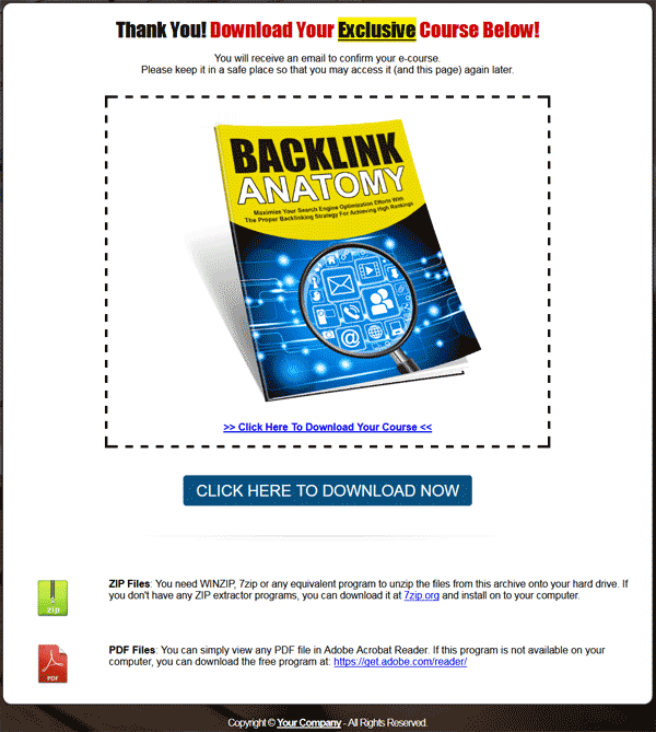 Backlink Anatomy Lead Generation Report MRR