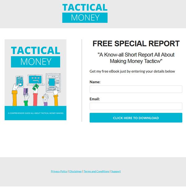 Tactical Money Making PLR Ebook