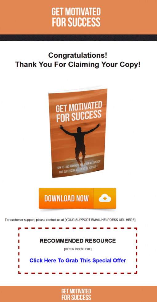 Get Motivated For Success Ebook MRR