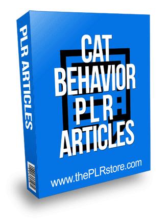 Cat Behavior PLR Articles