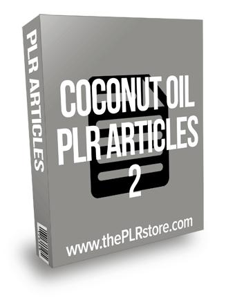 Coconut Oil PLR Articles 2