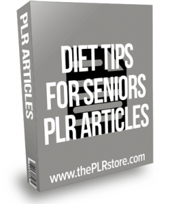 Diet Tips For Seniors PLR Articles