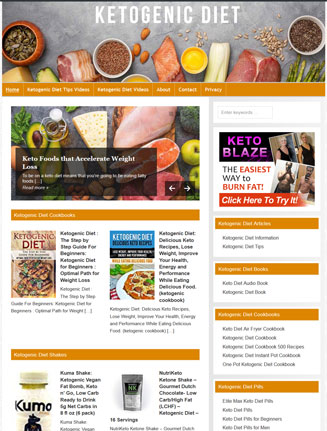 Ketogenic Diet PLR Website and Amazon Store