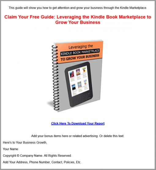 Leveraging The Kindle Book Marketplace Ebook MRR