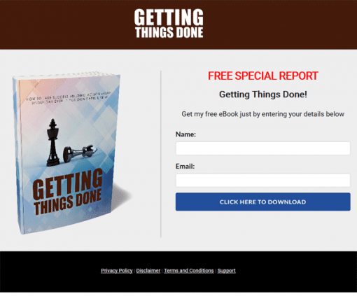 Getting Things Done Ebook and Videos MRR