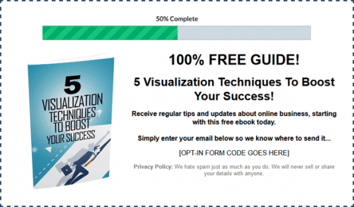 Success Visualization Ebook with Master Resale Rights