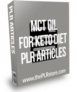 MCT Oil For Keto Diet PLR Articles