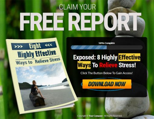 Relieve Stress PLR List Building Report