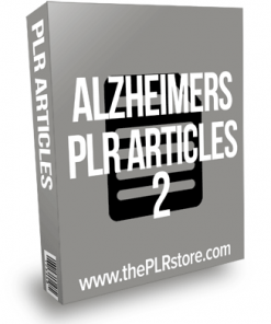Alzheimers PLR Articles 2