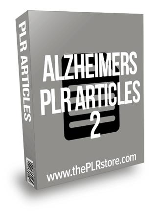 Alzheimers PLR Articles 2