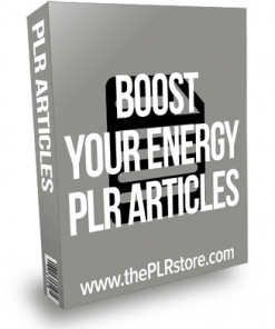 Boost Your Energy PLR Articles
