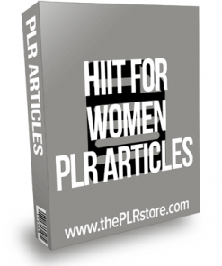 HIIT For Women PLR Articles