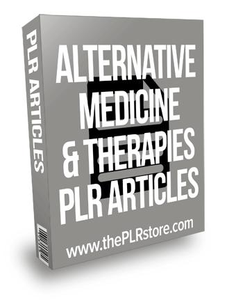Alternative Medicine Therapies PLR Articles