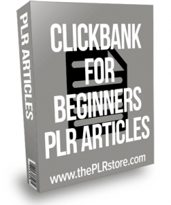 Clickbank For Beginners PLR Articles