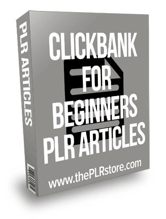 Clickbank For Beginners PLR Articles