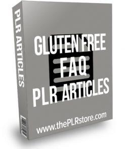 Gluten Free Diet FAQ PLR Articles