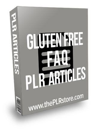 Gluten Free Diet FAQ PLR Articles