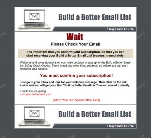 Build a Better Email List PLR Autoresponder Messages