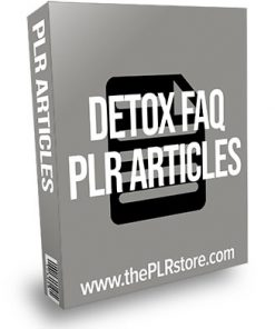 Detox FAQ PLR Articles