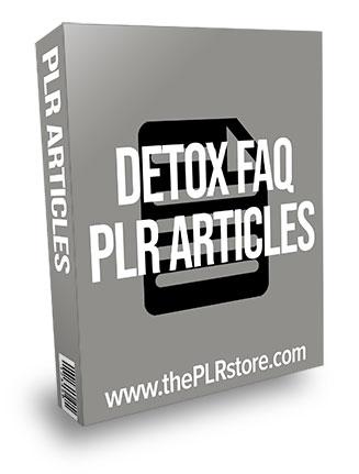Detox FAQ PLR Articles
