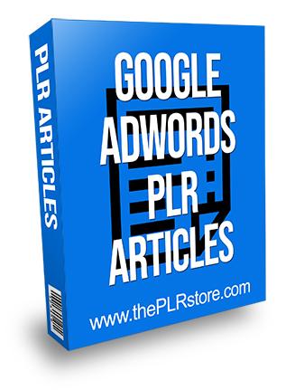Google Adwords PLR Articles