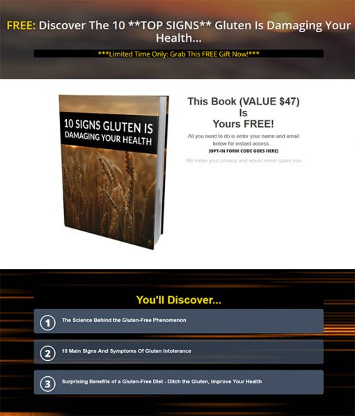 Gluten Free Diet Lifestyle Ebook and Videos MRR