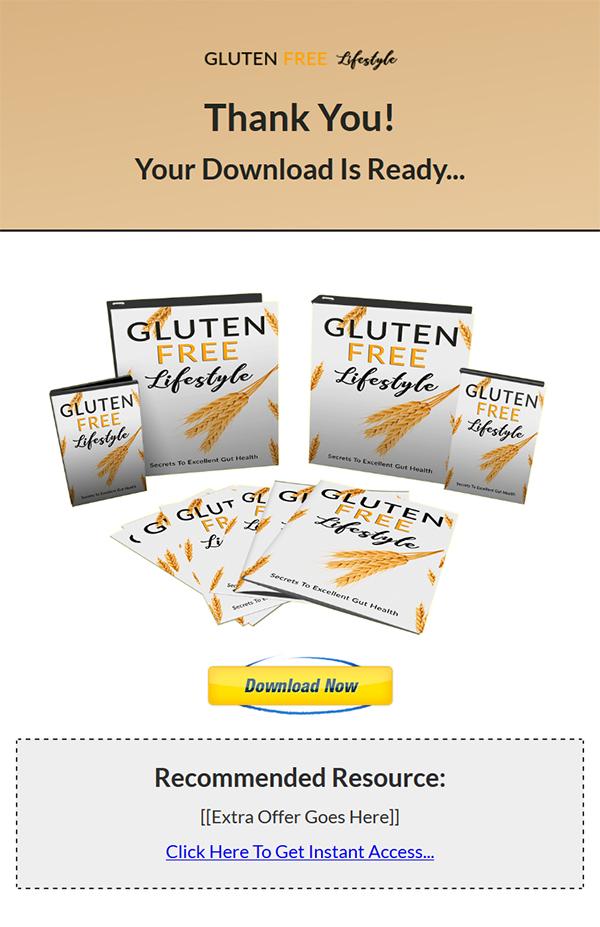 Gluten Free Diet Lifestyle Ebook and Videos MRR