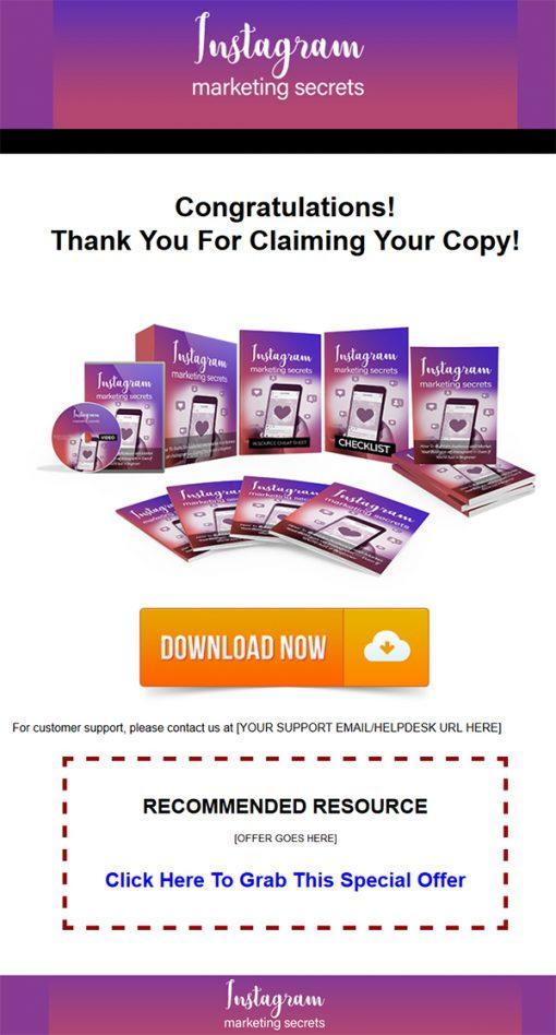 Instagram Marketing Secrets Ebook and Videos MRR