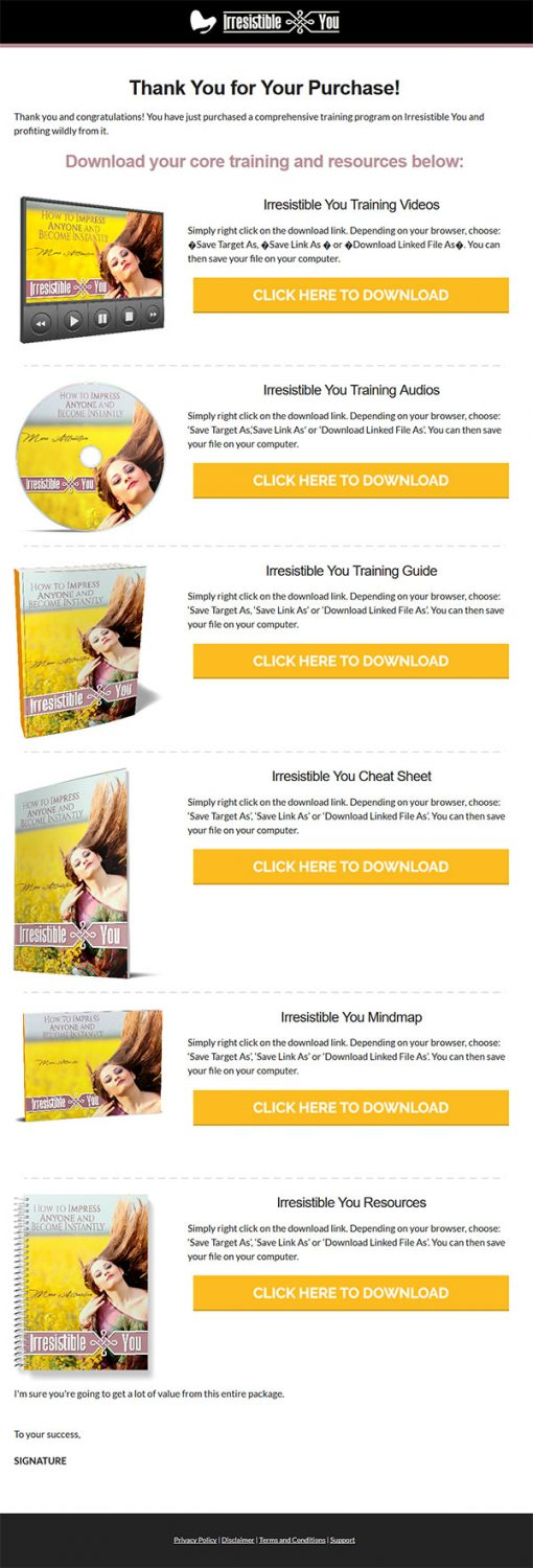 Irresistible You Ebook and Videos MRR