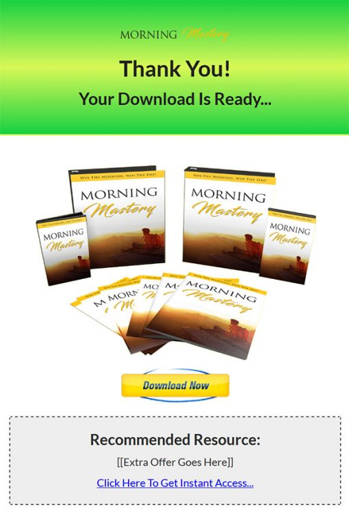 Morning Mastery Ebook and Videos MRR