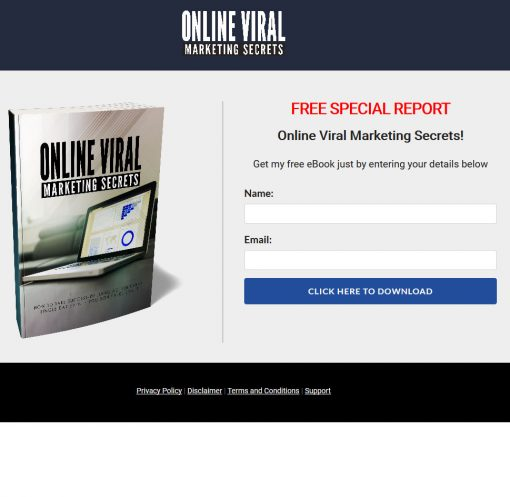 Online Viral Marketing Secrets Ebook and Videos MRR