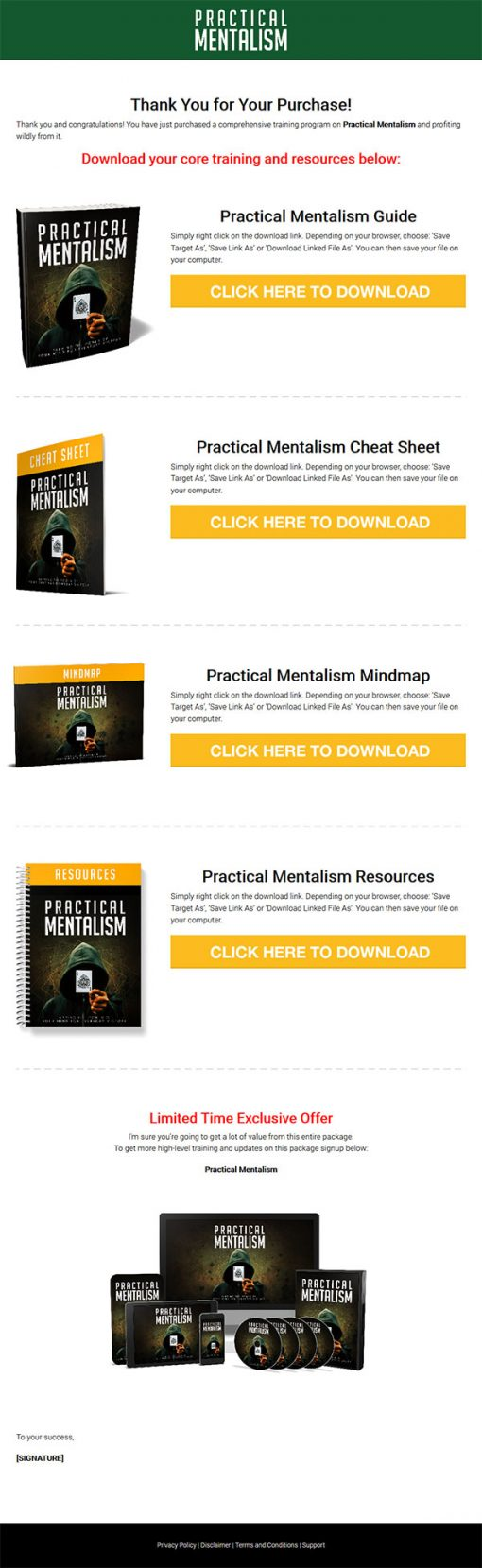 Practical Mentalism Ebook and Videos MRR