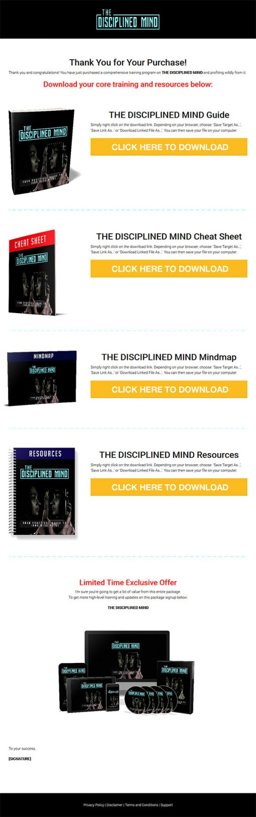 The Disciplined Mind Ebook and Videos MRR