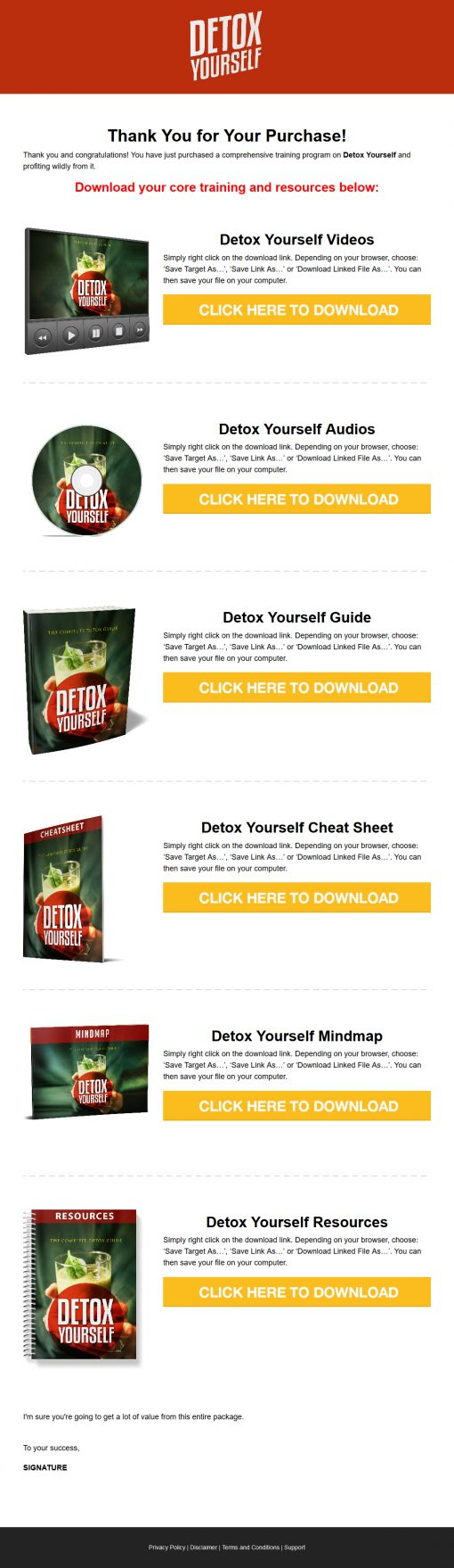 Detox Yourself Ebook and Videos MRR