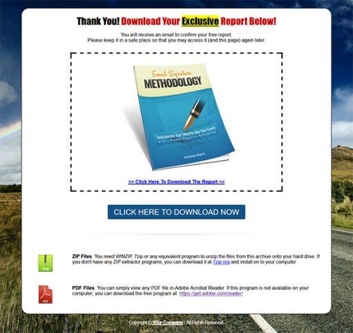Email Signature Methodology Lead Generation MRR