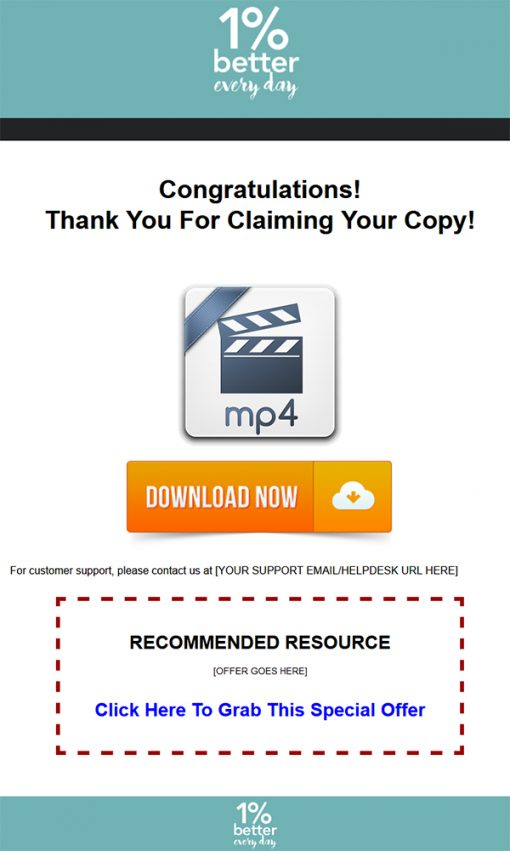 1 Percent Better Every Day Ebook and Videos MRR