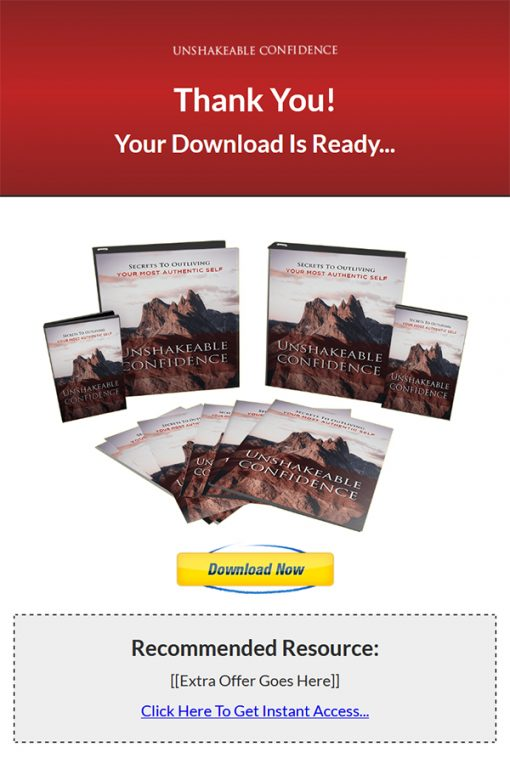 Unshakeable Self-Confidence Ebook and Videos MRR