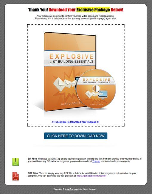 Explosive Listbuilding Essentials Lead Generation Package MRR