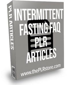 Intermittent Fasting FAQ PLR Articles