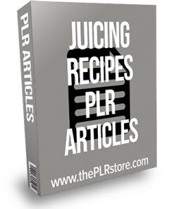 Juicing Recipes PLR Articles