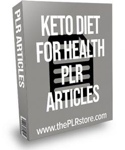 Keto Diet for Health PLR Articles
