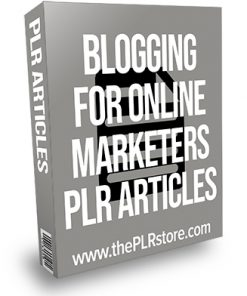 Blogging for Online Marketers PLR Articles